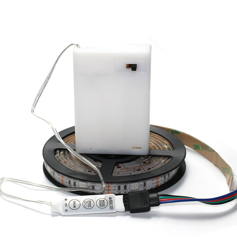 Waterproof 5v 200CM RGB LED Strip battery operated set Craft Hobby Light SMD5050 30 60leds