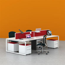 4 person office workstation computer desk