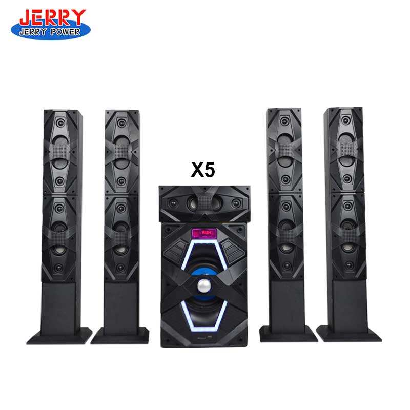 JERRY Speaker Sound Bar 5.1 Channel Home Theatre System With LED
