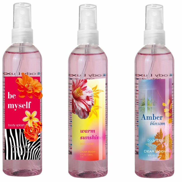 Dearbody Brand 236ml Various Flower Scent Body Splash & Fragrance Mist & Perfume for Women