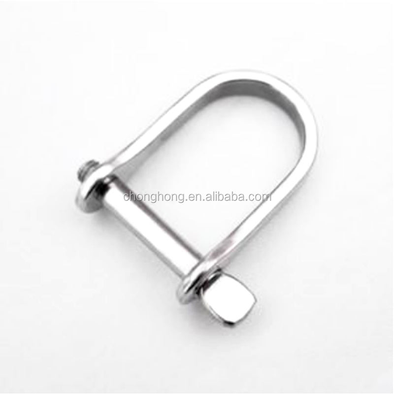 Stainless steel 304-A2,316-A4 Plate Dee Shackle Stamped Dee Shackle features a screw pin