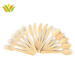 Wholesale Disposable Bamboo Wood Knife Spoon Fork Cutlery Set