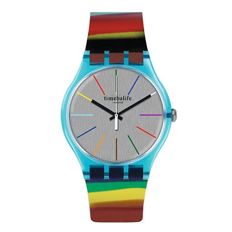 New Fashion Band Plastic Case Bracelet Sports Beautiful Lady Wrist Watch