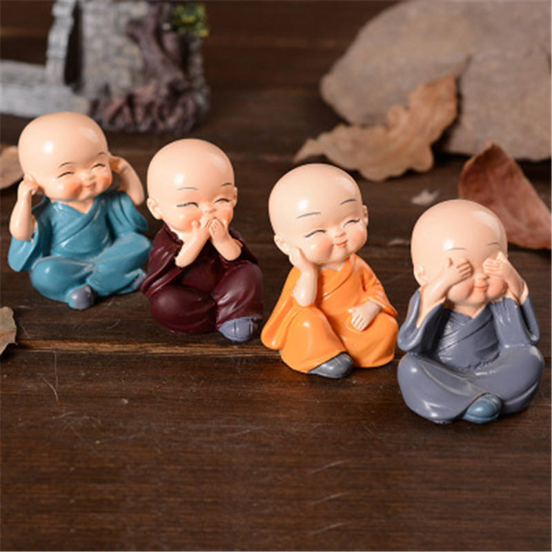 New Chinese kung fu monk resin decoration,Car furnishing articles
