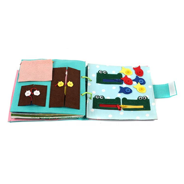 Handmade Activity busy book baby educational quiet felt book