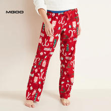 MGOO Christmas Pajama Pants For Women Customized Loungewear Holidays Pajama Full Print Pattern