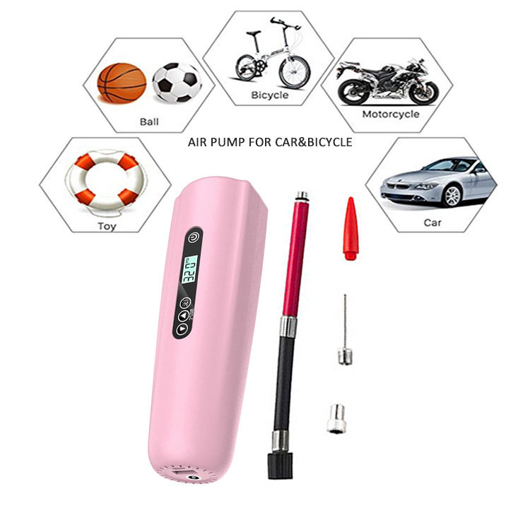 Tire repair tools digital LCD display USB rechargeable portable mini electric tyre inflator air pump for car bicycle ball