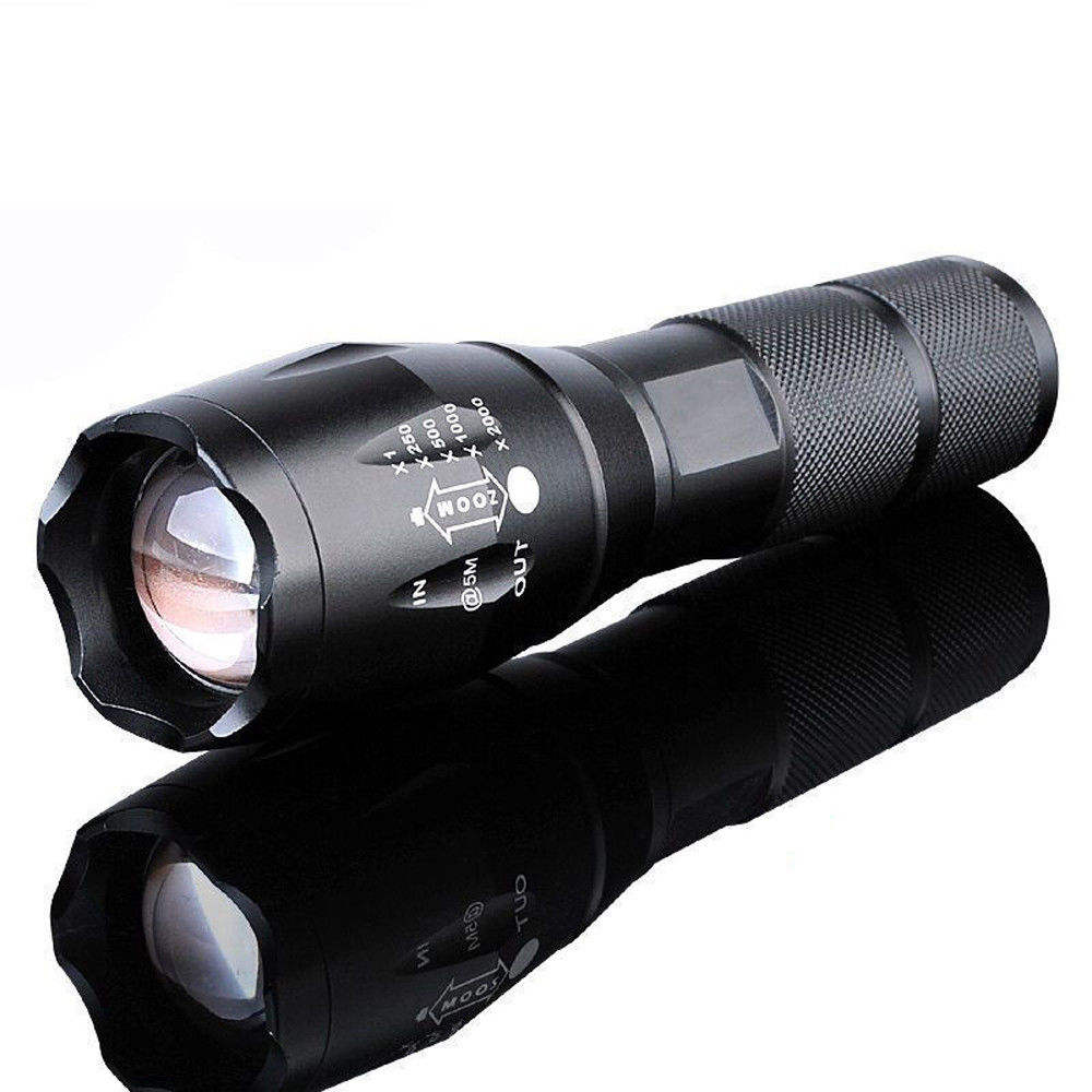 Brightest XML T6 Waterproof Military 1000 Lumen Tactical Flashlight For Self Defensive