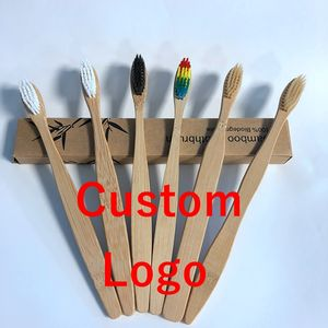 Eco Friendly Adult OEM Soft Bristle Biodegradable Bamboo Custom Toothbrush