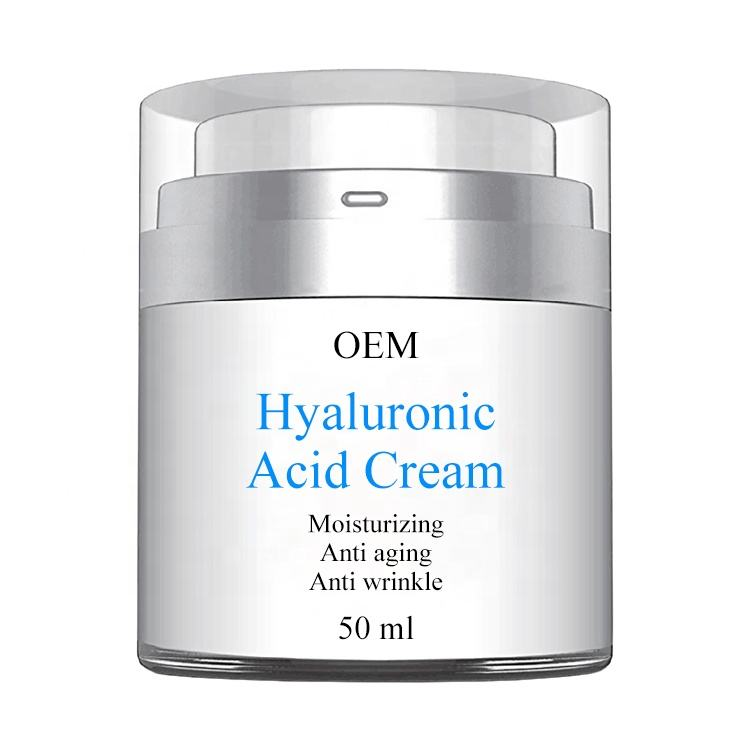Private Label Natural Anti-Wrinkle Hyaluronic Acid Gel Face Cream