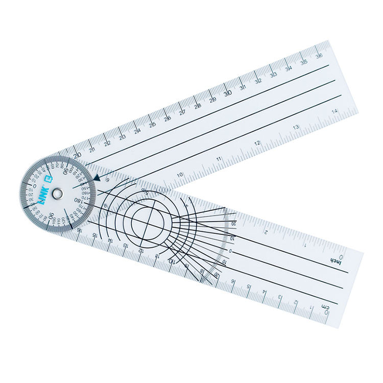 Hot Sale Measuring Plastic Goniometer 30Cm Medical Angle Degree Orthopedic Ruler Triangle Protractor Set