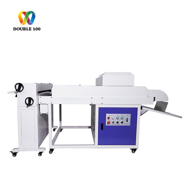 Double100 New Upgrade UV Liquid Laminating Machine UV coating machine For Printed Paper