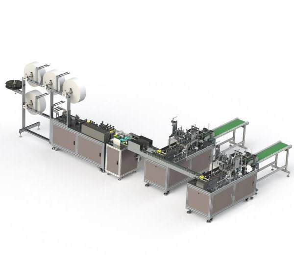 fully automatic 3 ply nonwoven fabric facemask facial face masks making machine production line