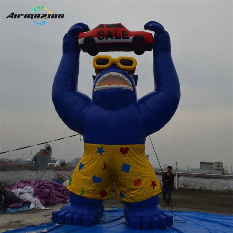 Giant Inflatable Gorilla, Rooftop Gorilla Balloon for Advertising