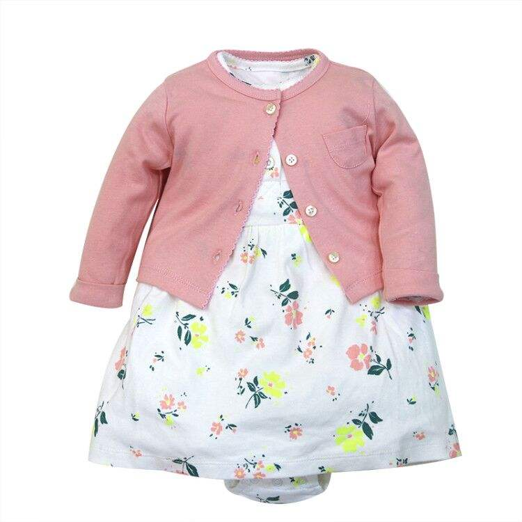 Newborn Baby Clothes 100% Cotton Infant Clothes Set Girls Clothing Kit Stock wholesale