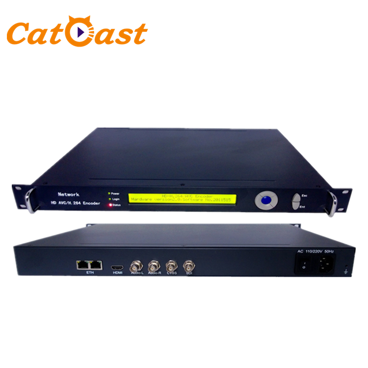 Low Bitrate SDI/HD H.264/AVC to IP Encoder over UDP/HTTP/RTSP/RTP/RTMP