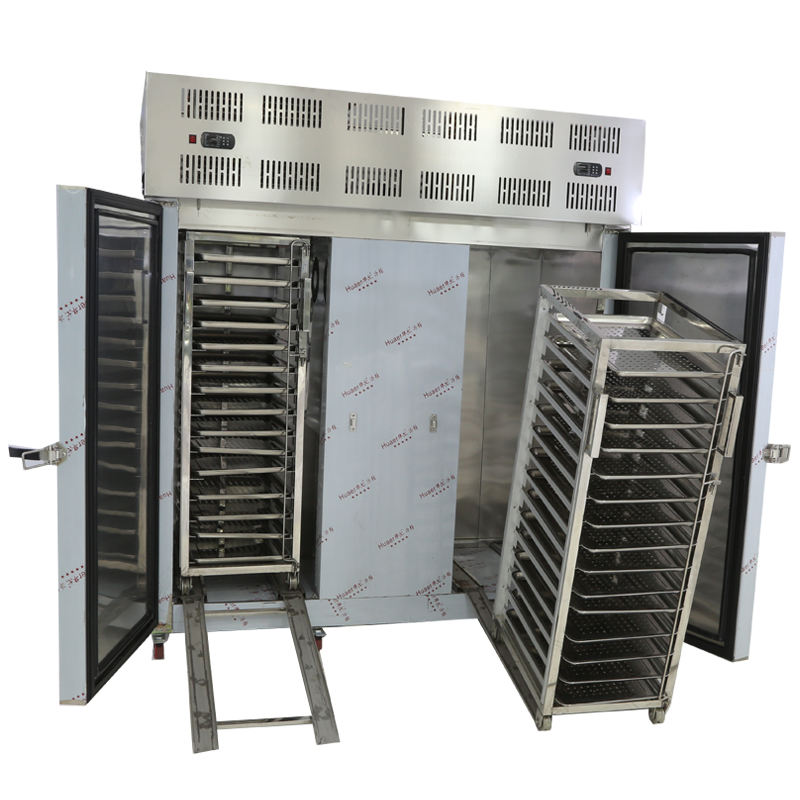 Super fast freezing stainless steel blast freezer with trolleys