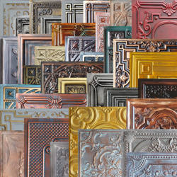 Sample Ceiling tile faux tin painted bar wall panels PLsample
