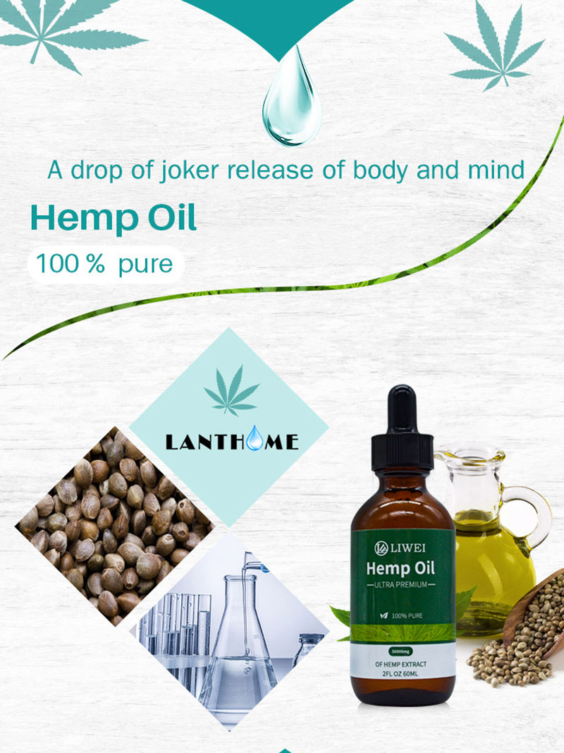 1000mg Hemp Extract Oil Drops Great For Good Sleep Pain Anxiety & Stress Hemp Seed Oil Made In China