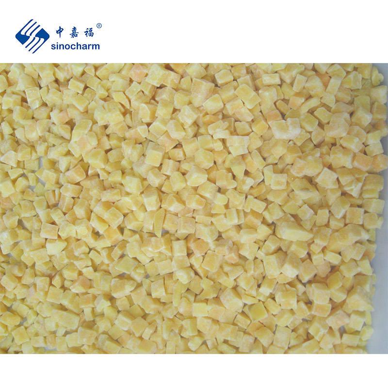 Sinocharm BRC A approved IQF Cut Yellow Sweet Potato Dice