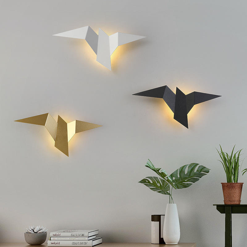 Driver Simple Lamp Creative Lights Bedroom Indoor Decorative Light Modern Little Bird Long Living Room European Led Wall Lamps