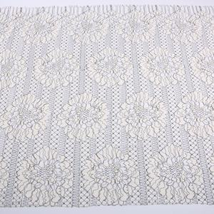 yylace knitted floral white crochet lace fabric embroidered african party