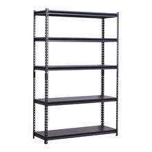 Cheap price Black 5 layer boltless shelf Angle steel light duty industrial warehouse storage rack