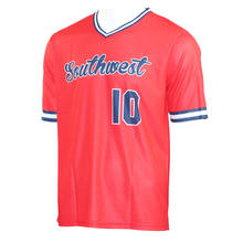 Custom 100% Polyester Baseball Jerseys Men V neck Baseball Shirt For Team