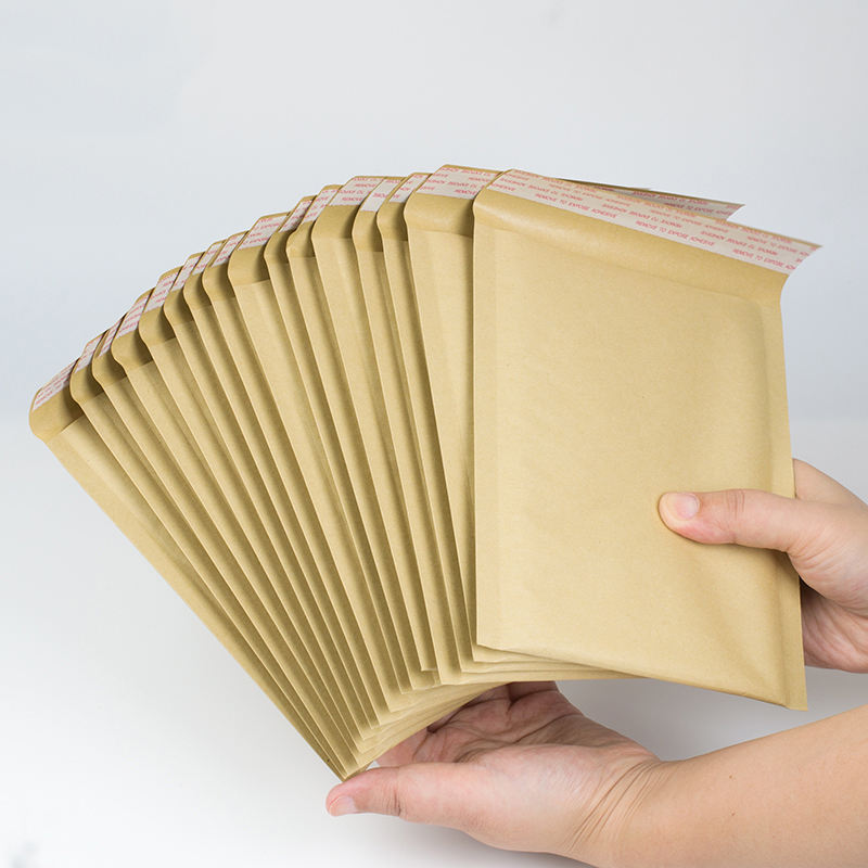 Hot sale recycled brown kraft bubble bag mailers