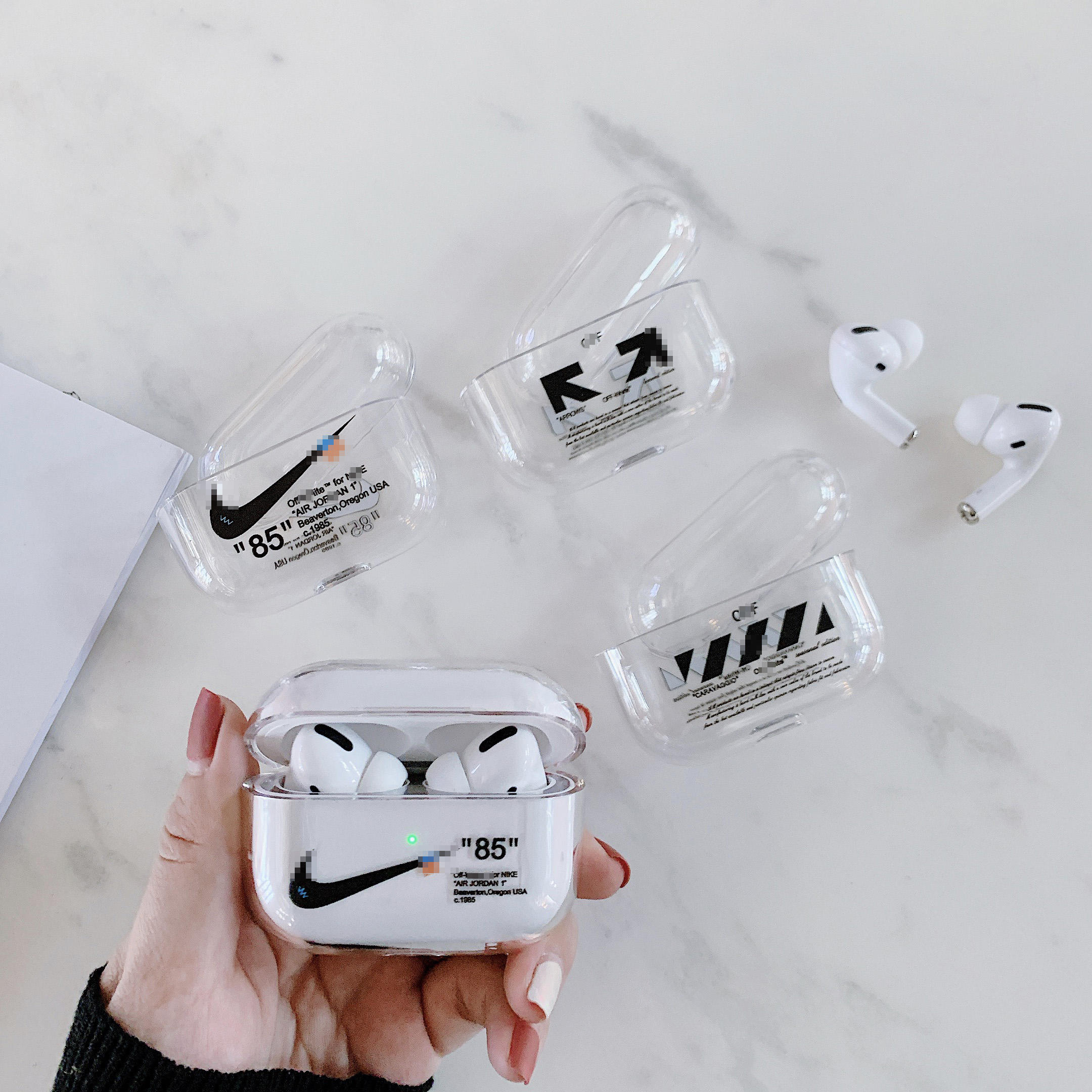 Airpods pro 2019 nouveau pour airpod 3 pro Hors Whit 01 02 03 04 <span class=keywords><strong>nike</strong></span> 85 mona lisa rue mode conception housse antichoc