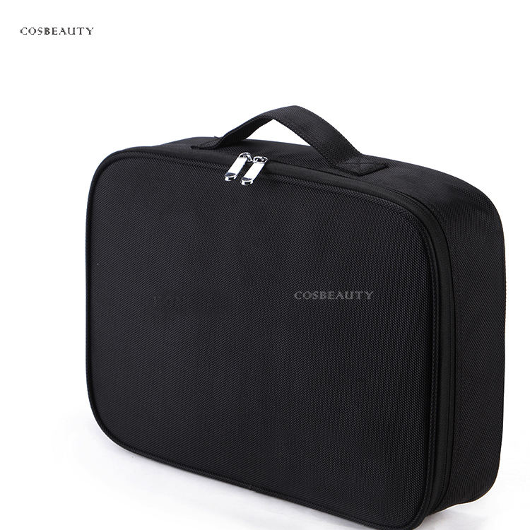 2021 Manufacturer Best Selling Black Classical Shoulder Strap Beauty Products Organizer Makeup Beauty Bag