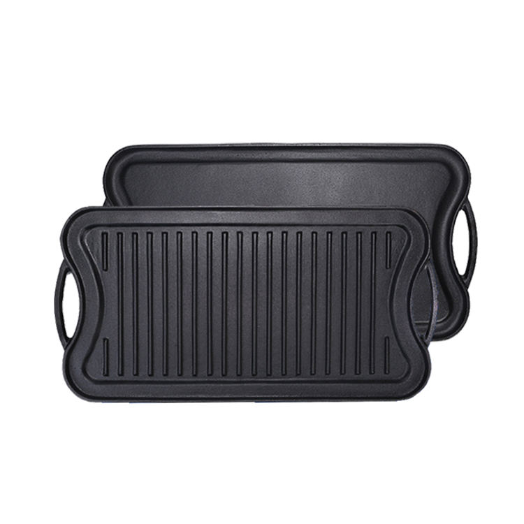 Amazon solution Prestige Reversible BBQ Grill Cast Iron Cookware Vegetable Oil griddle pan for Amazon