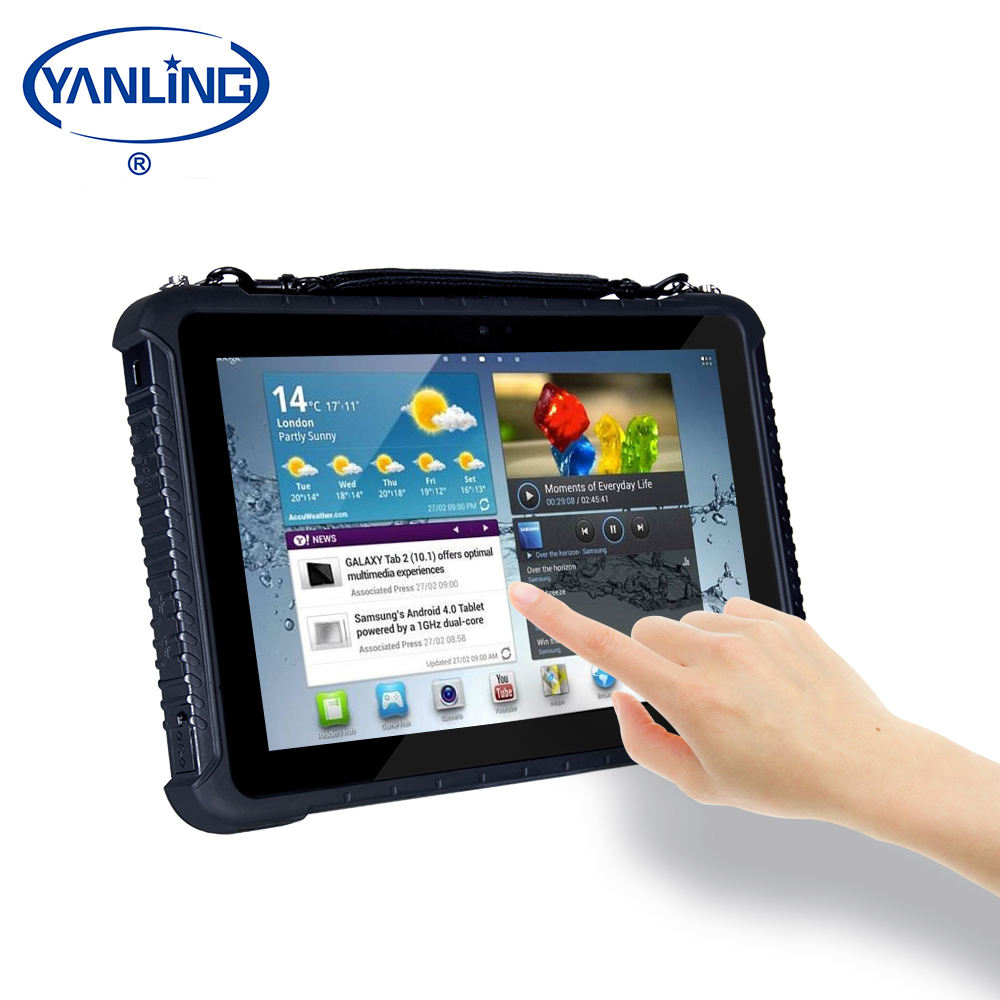 2020 New IPS IP65 Waterproof Military Industrial Rugged 3G 4G Tablet PC with GPS NFC functional
