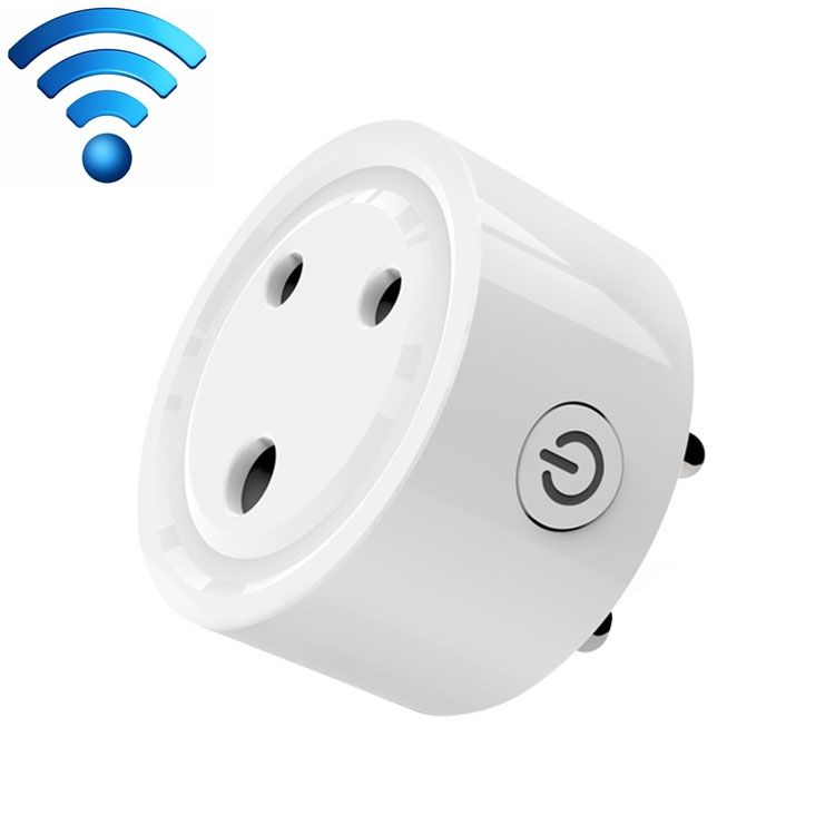 10A Mini Smart WiFi Socket Small South Africa Plug Remote Control Timer Switch Electrical Power Adapter with Alexa
