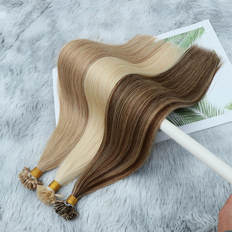 Top Quality 20 22 24 26 28 Inches Keratin Bonds Virgin Unprocessed Slavic Double Drawn Natural Russian Hair Extensions Sale