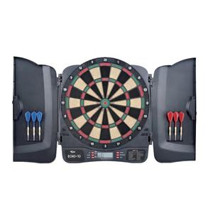 Factory Direct Sale Built in Cabinet Doors with LCD scoring Electronics Dart Board, Dart Storage For 6 Darts PN. 9563