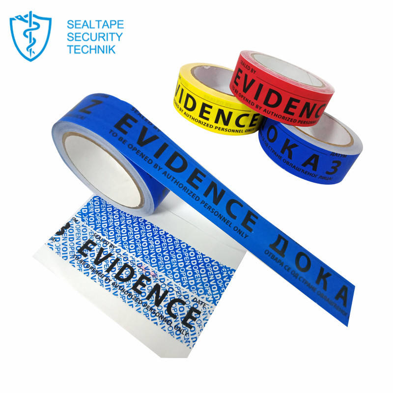 Manufacturers Selling Blue Bopp Waterproof Anti Theft Warranty Security Packing Tape With Logo