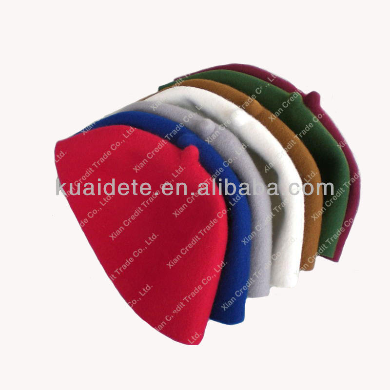 100% wool felt classical muslim prayer cap islamic hat muslim cap KDTCP014 with low price