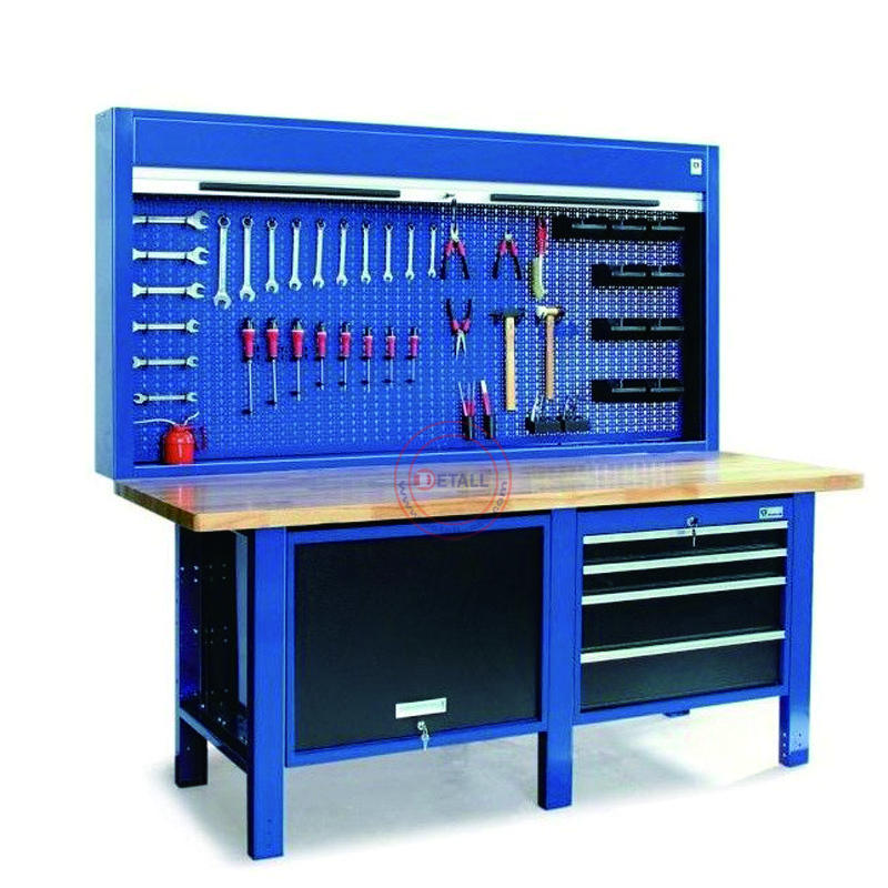 Detall iron work table steel workbench metal work bench for industry