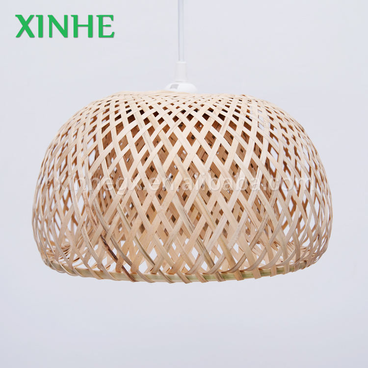 2020 wholesale natural bamboo lighting parts home/garden decor Hanging Lampshade
