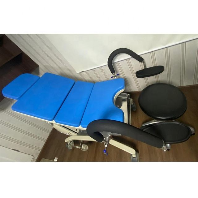 Electro hydraulic gynecology examination chair with big loading capacity obstetric delivery chair HE-609D