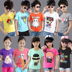 Mix style mix color big children fashion short-sleeved T-shirt stock for wholesale