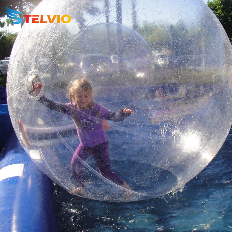 Durable Germany Tizip zipper roll PVC 3m Transparent Inflatable water walking ball toys ball