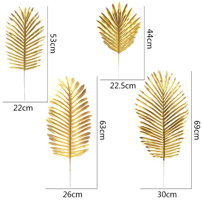 Wholesale gold colorful Artificial Kwai leaves material faux cactus for interior decor for home