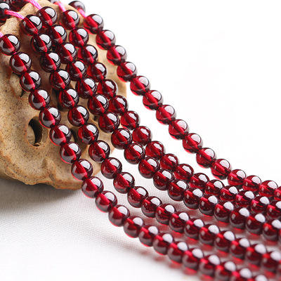 Free Shipping Wholesale Crystal Beads For Decoration, Rondelle Glass Loose Beads garnet