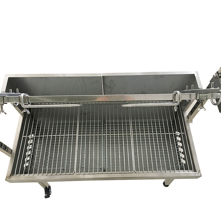Commercial stainless steel smokeless barbecue custom large charcoal bbq grill with wheels