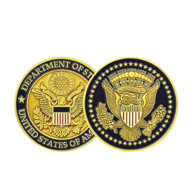 Stock american gold plated commemorative coins ,custom gold sliver american souvenicoin