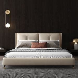 Modern and Contemporary 180cm Faux Leather Upholstered Bed