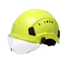 ZUJA Safety Rescue Hard Hat ABS Sports Helmet Adjustable with Visor 6-Point Suspension Rock Climbing Helmets
