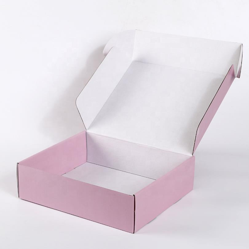 Shipping Packaging Boxes Custom Square Delivery Corrugated Paper Mailer Mailing Shipping Packaging Meal Boxes